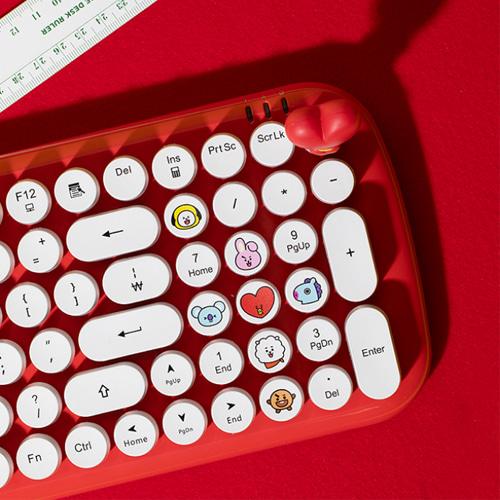 [BT21] Retro Keyboard Printed Key Cap (RC) Koreapopstore.com