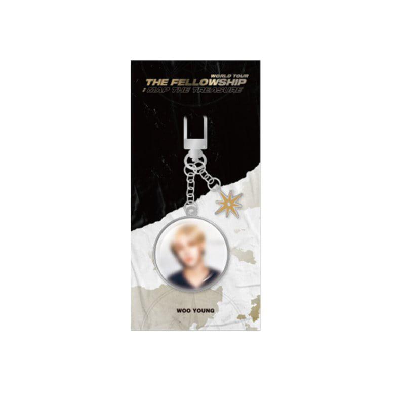 [Ship from 12th/MAR] [ATEEZ] WORLD TOUR THE FELLLOWSHIP : MAP THE TREASURE Metal Keyring [WOO YOUNG] Koreapopstore.com