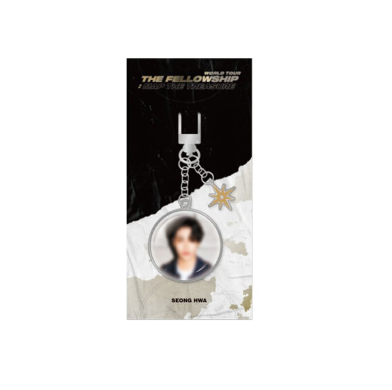 [Ship from 12th/MAR] [ATEEZ] WORLD TOUR THE FELLLOWSHIP : MAP THE TREASURE Metal Keyring [SEONG HWA] Koreapopstore.com