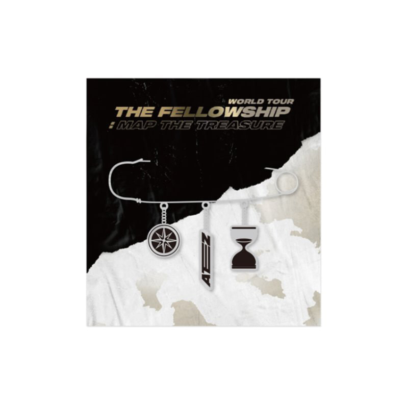 [Ship from 12th/MAR] [ATEEZ] WORLD TOUR THE FELLLOWSHIP : MAP THE TREASURE Metal Brooch Koreapopstore.com