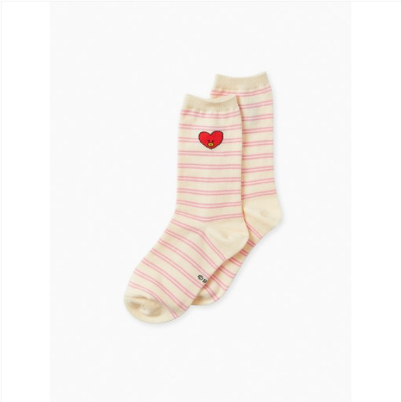 [BT21] HEART Middle Socks : TATA (LF) Koreapopstore.com