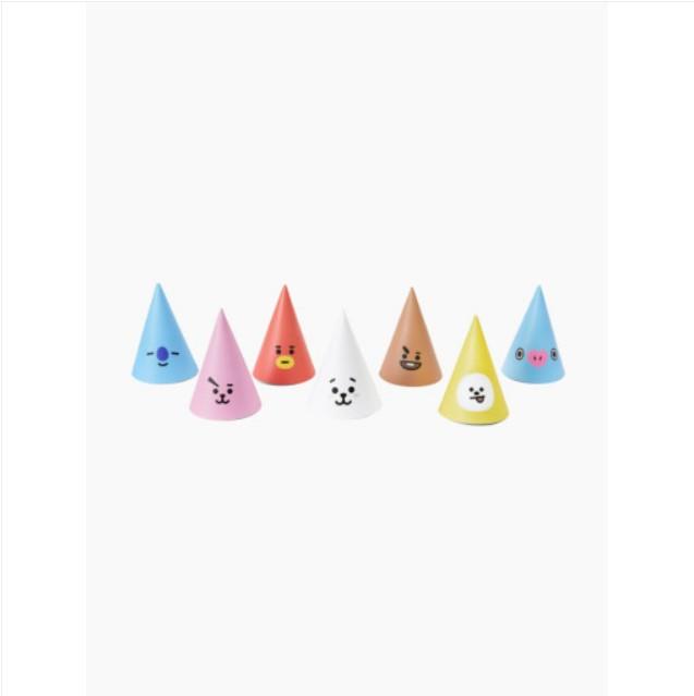 [BT21] Face Mini Cone Hat 7pcs Set (LF) Koreapopstore.com
