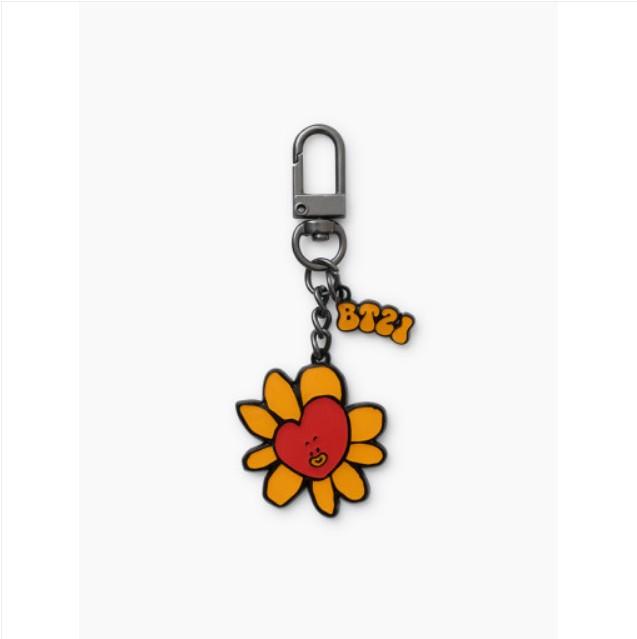 [BT21] Flower Metal Key Ring : TATA (LF) Koreapopstore.com