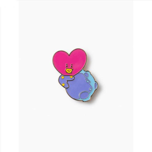 [BT21] SPACE Wappen Metal Badge(2pcs Set) : TATA (LF) Koreapopstore.com