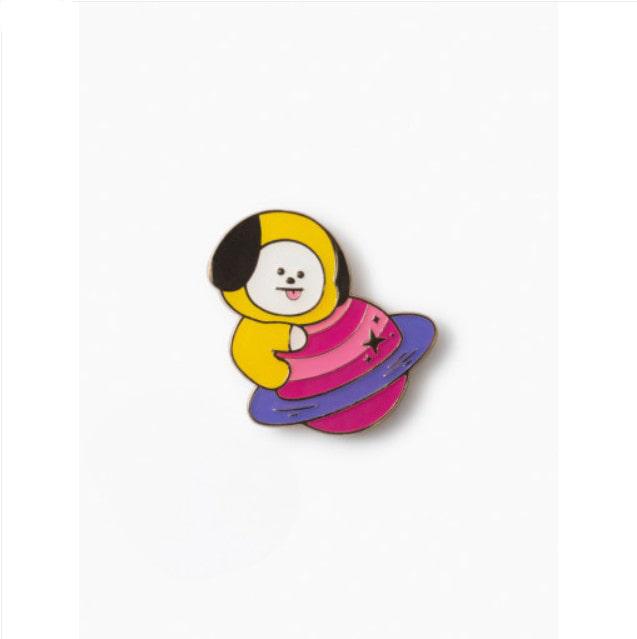 [BT21] SPACE Wappen Metal Badge(2pcs Set) : CHIMMY (LF) Koreapopstore.com