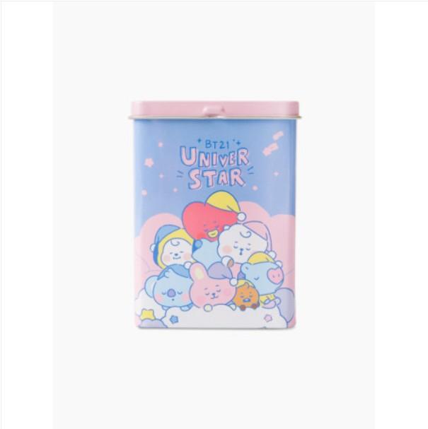 [BT21 BABY] Tin Case Aqua Band-aid : PINK (LF) Koreapopstore.com