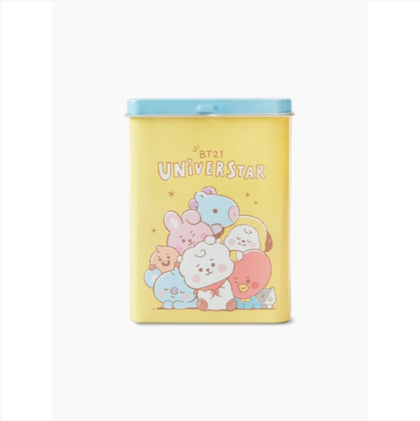 [BT21 BABY] Tin Case Aqua Band-aid : YELLOW (LF) Koreapopstore.com
