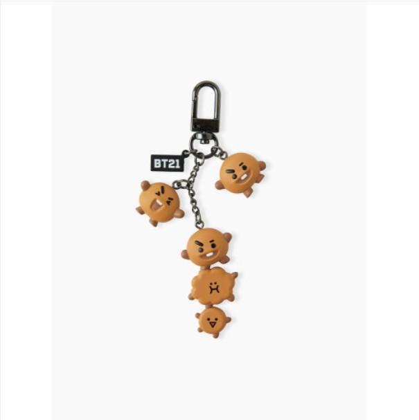 [BT21] Waggle Waggle Figure Key Ring Dangle : SHOOKY (LF) Koreapopstore.com
