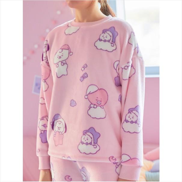 [BT21 BABY] Light Pink Sleeping Pajama Set / DREAM OF BABY (LF) Koreapopstore.com