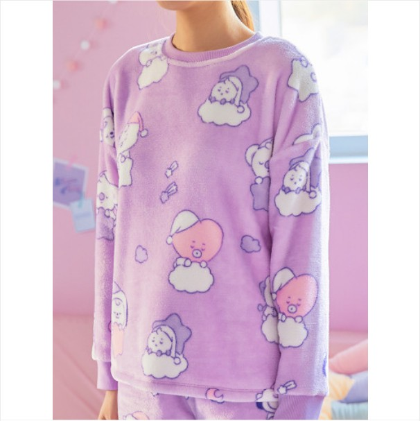[BT21 BABY] Light Purple Sleeping Pajama Set / DREAM OF BABY (LF) Koreapopstore.com