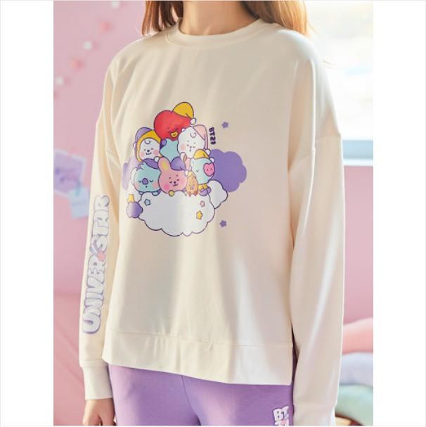 [BT21 BABY] Purple Lounge Wear Set / DREAM OF BABY (LF) Koreapopstore.com