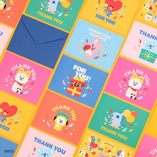 [BT21] Postcard Set -THANK YOU (MP) Koreapopstore.com