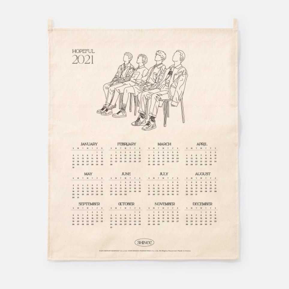[Ship from 25th/JAN][SHINEE] 2021 Canvas Drawing Calendar Koreapopstore.com