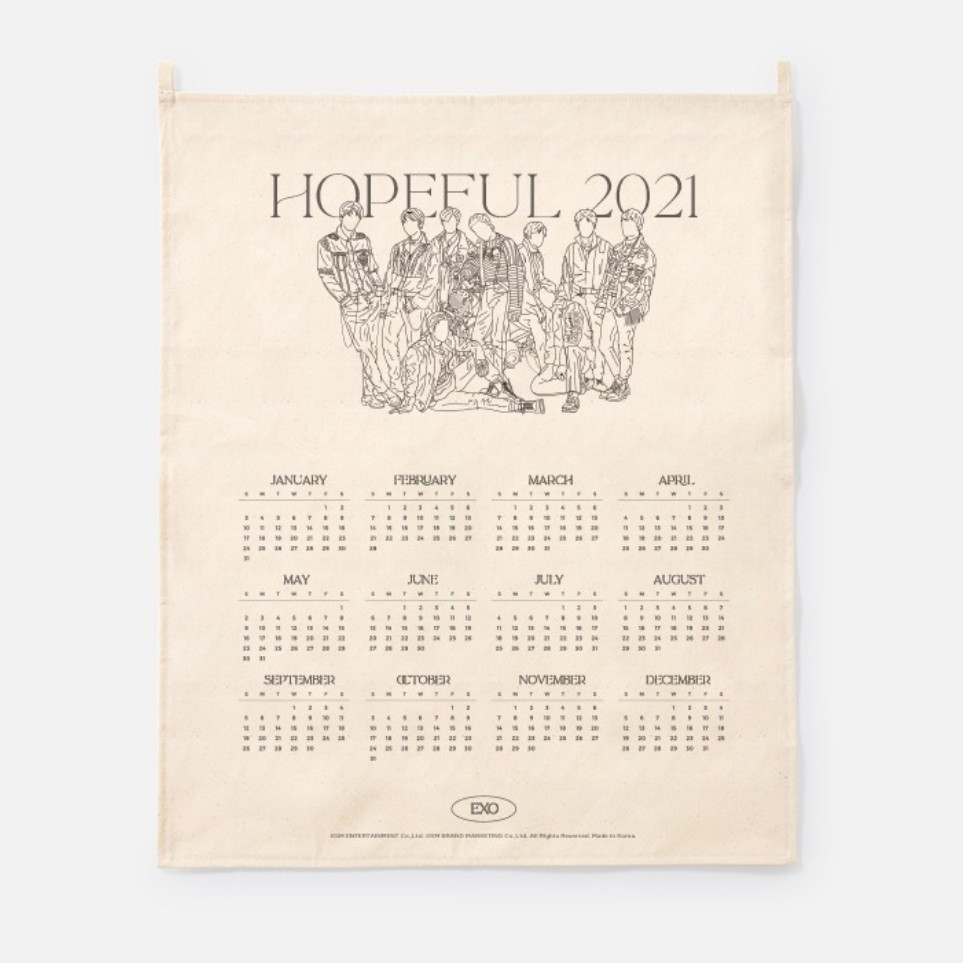 [Ship from 25th/JAN][EXO] 2021 Canvas Drawing Calendar Koreapopstore.com
