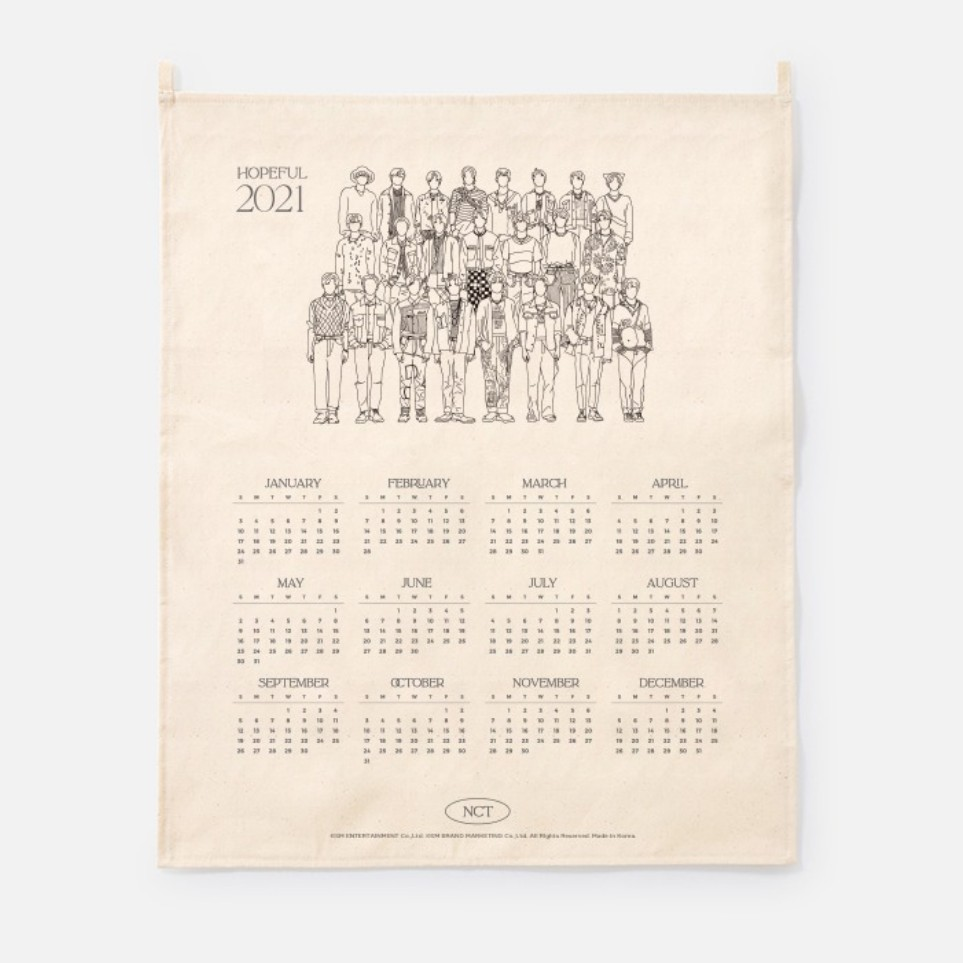 [Ship from 25th/JAN][NCT] 2021 Canvas Drawing Calendar Koreapopstore.com