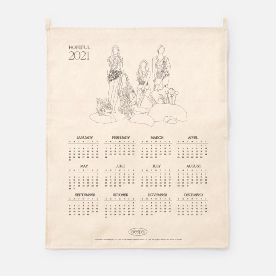 [Ship from 25th/JAN][AESPA] 2021 Canvas Drawing Calendar Koreapopstore.com