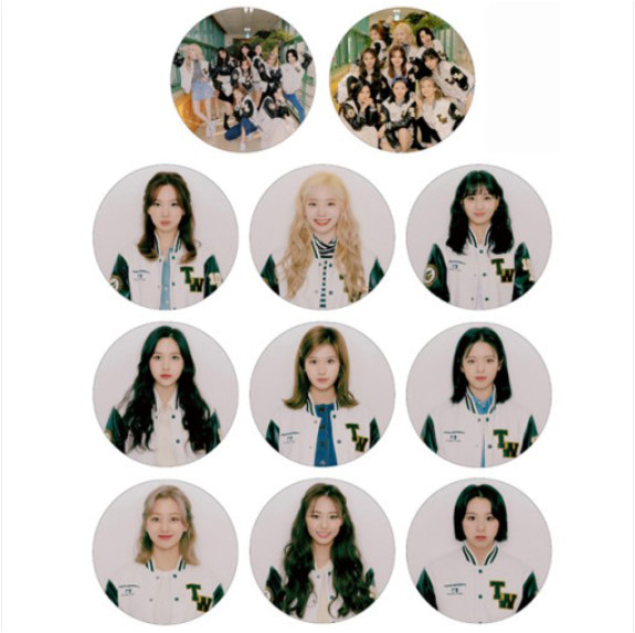 [TWICE] Pin Button Badge (FASHION CLUB) Koreapopstore.com
