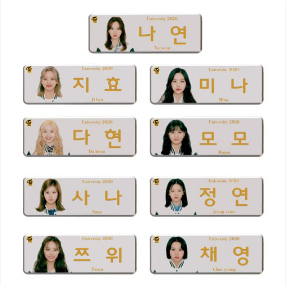[TWICE] Name Tag (FASHION CLUB) Koreapopstore.com